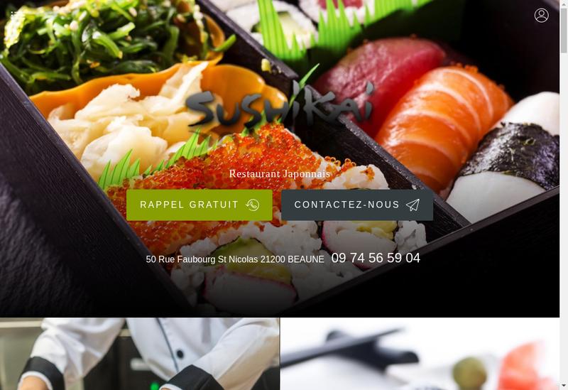 Capture d'écran du site de Sushi Kai