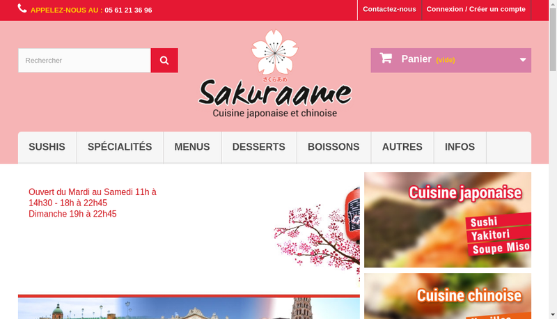 Capture d'écran du site de Sakuraame