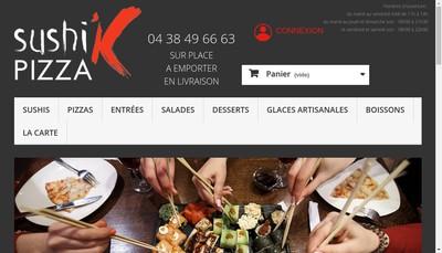 Site internet de Sushi'K Pizza