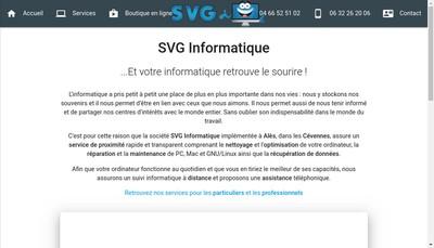 Site internet de SVG Informatique