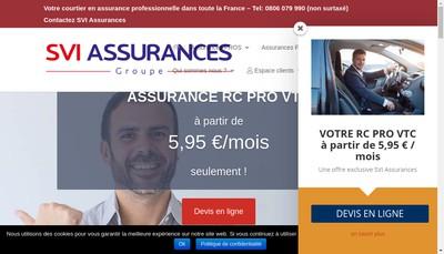 Site internet de Svi Assurances