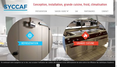 Site internet de Syccaf Societe Yvelinoise Collectivite Cafeteria Applications du Froid