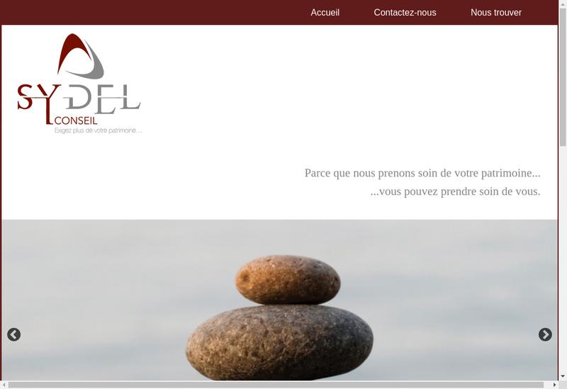 Capture d'écran du site de Sydel Conseil