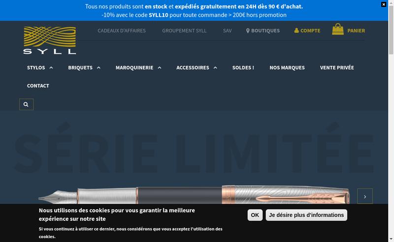 Capture d'écran du site de Syll
