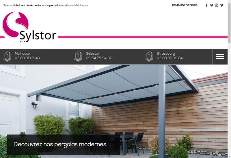 Capture d'écran du site de Sylstor