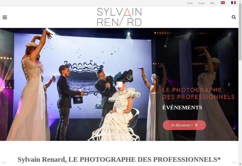 Capture d'écran du site de Sylvain Renard - Photographe