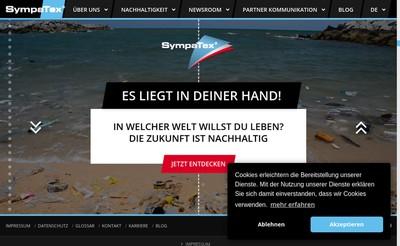Site internet de Sympatex Technologies SAS