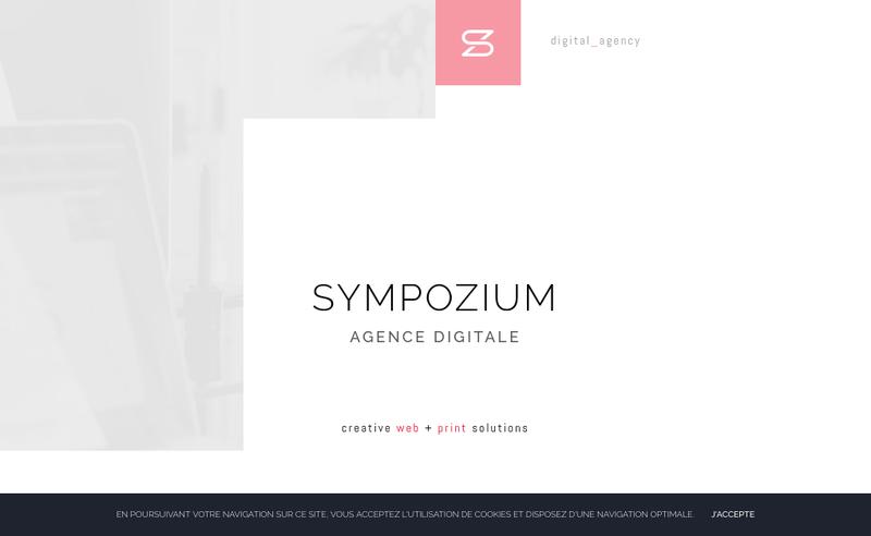 Capture d'écran du site de Sympozium