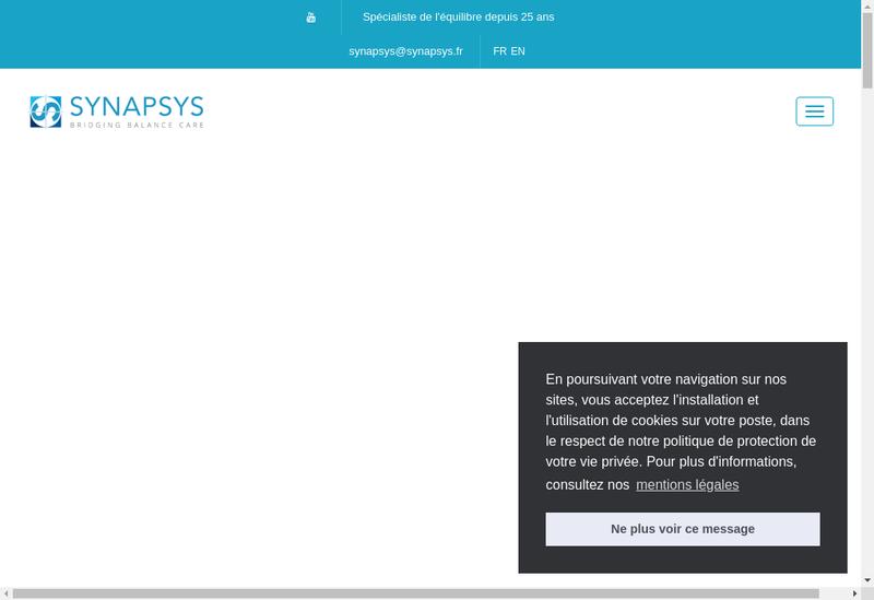 Capture d'écran du site de Synapsys