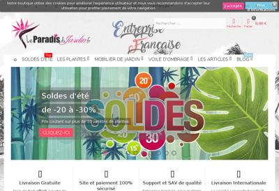 Capture d'écran du site de SARL Synergia