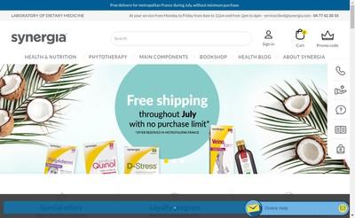 Site internet de SARL Synergia