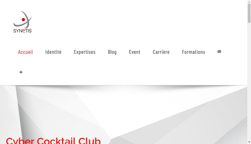 Capture d'écran du site de Synetis