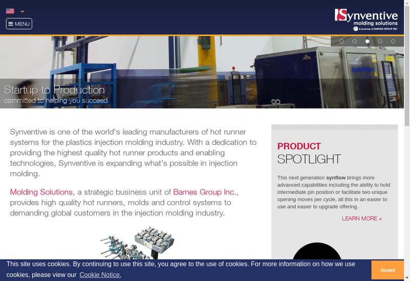 Capture d'écran du site de Synventive Molding Solution SAS