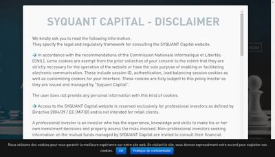 Site internet de Syquant Capital