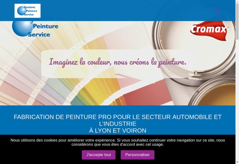 Capture d'écran du site de Systeme Peinture Service