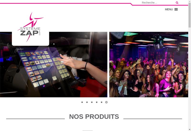 Capture d'écran du site de ZAP