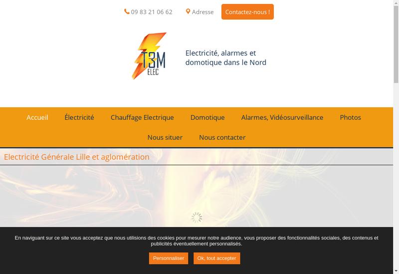 Capture d'écran du site de T3M Elec
