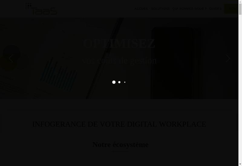 Capture d'écran du site de Achatel - Analytel