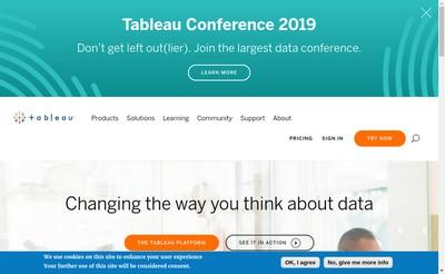 Site internet de Tableau France