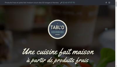 Site internet de Tabl'O Gourmand
