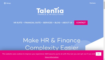 Site internet de Talentia Software France