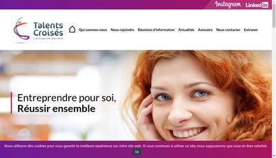 Site internet de Talents Croises