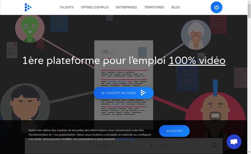Capture d'écran du site de Talents Tube