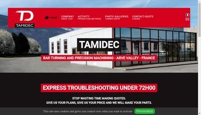 Site internet de Tamidec