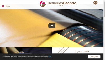 Site internet de Tanneries Pechdo