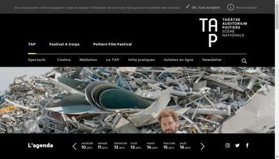 Site internet de Theatre et Auditorium de Poitiers - Scene Nationale