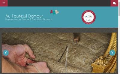 Site internet de Au Fauteuil Damour