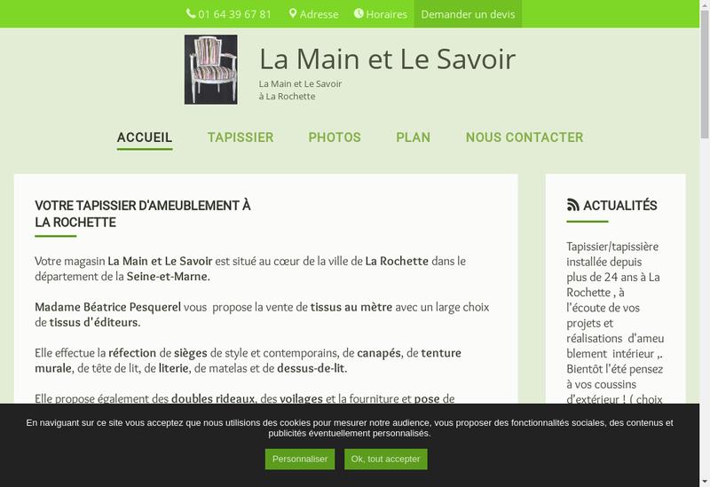 Capture d'écran du site de La Main et le Savoir