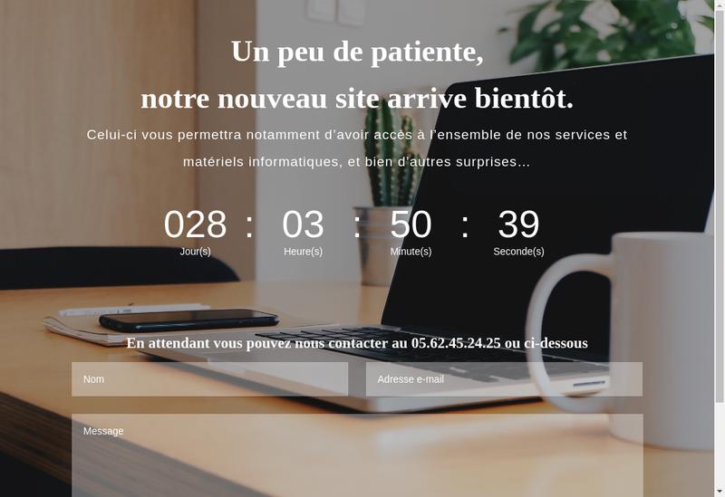 Capture d'écran du site de Tarbes Informatique