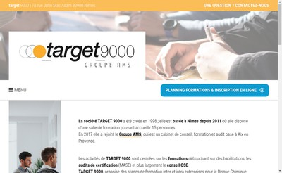 Site internet de Target 9000