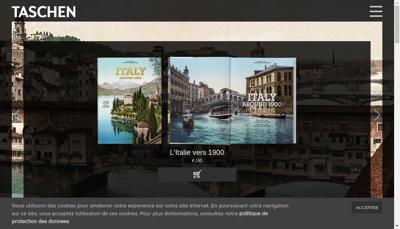 Capture d'écran du site de Taschen France