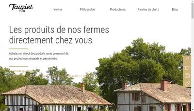 Site internet de Tauziet & Co