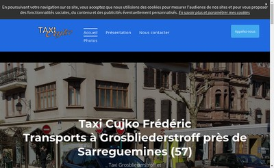 Site internet de Taxi Cujko