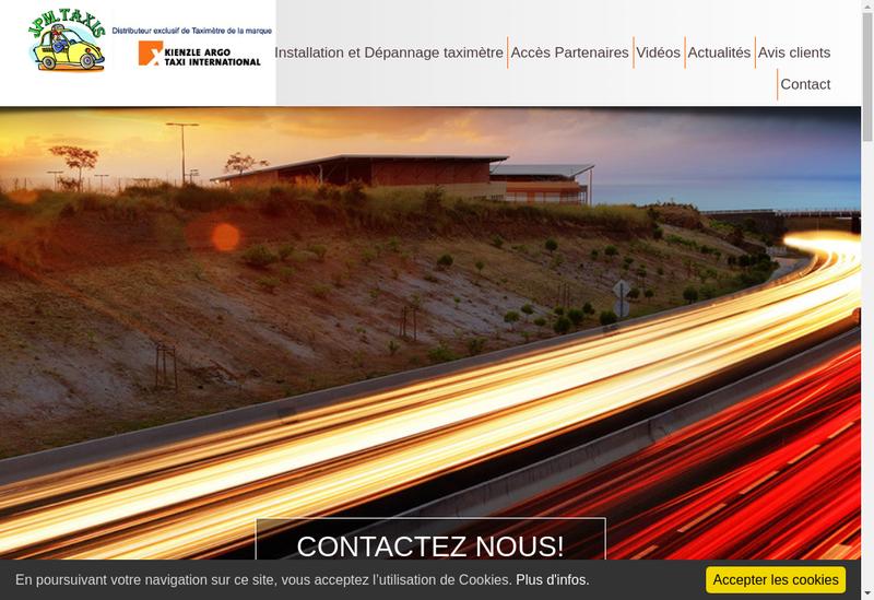 Capture d'écran du site de Jpm Taxis