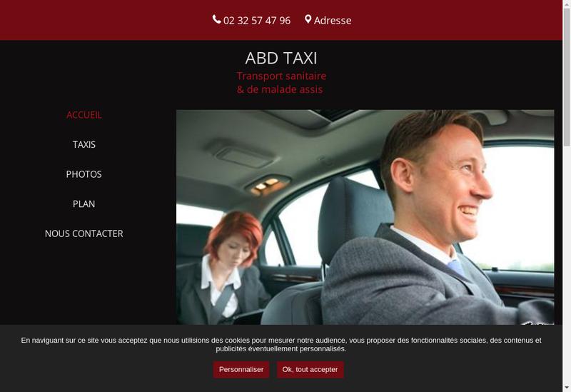Capture d'écran du site de Abd Taxi SARL