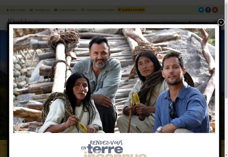 Capture d'écran du site de Tchendukua Ici et Ailleurs