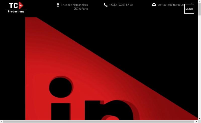 Capture d'écran du site de Tc In Productions
