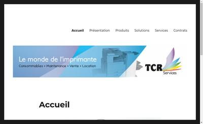 Site internet de Tcr Services