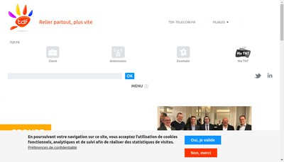 Site internet de Tdf Telediffusion de France