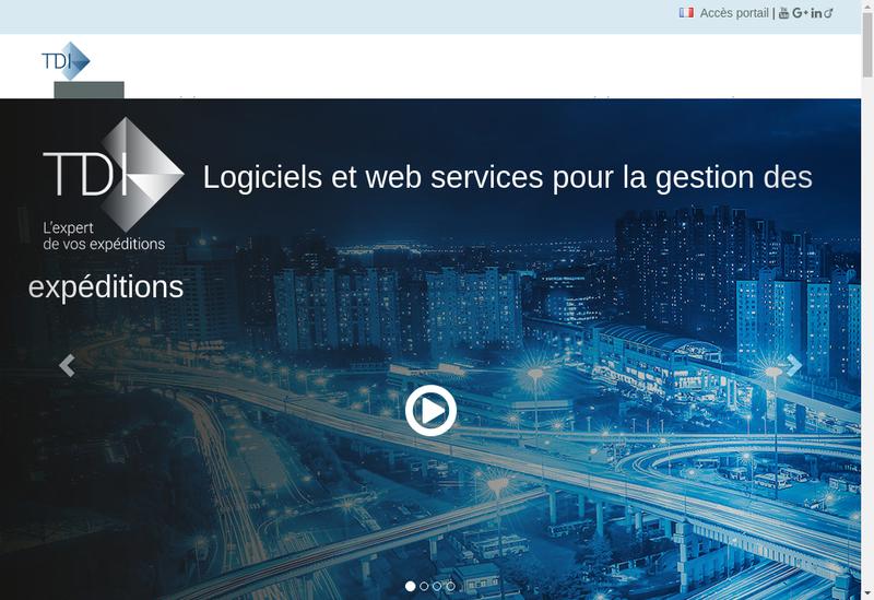 Capture d'écran du site de Transfert Developpement Informatique