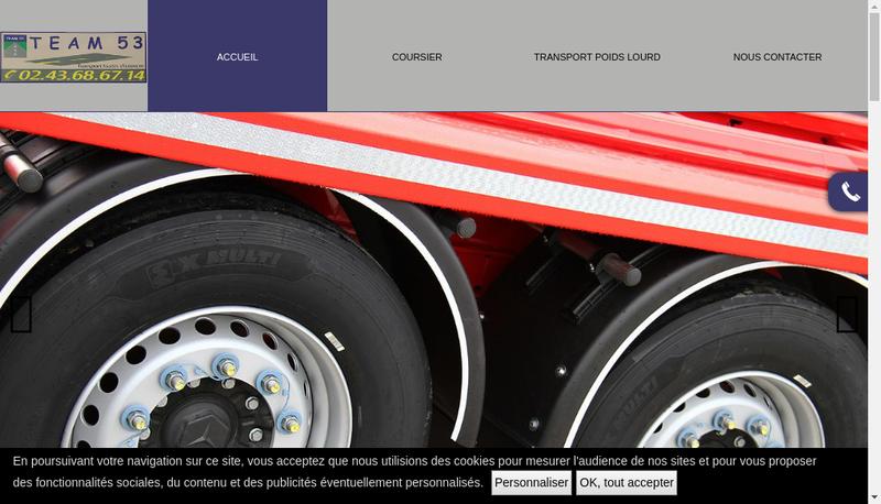 Capture d'écran du site de Team 53