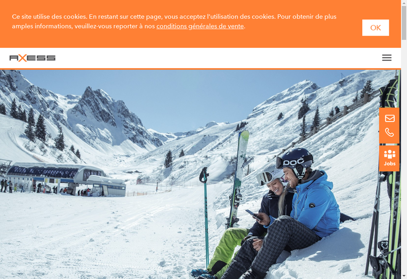 Capture d'écran du site de Teamaxess France