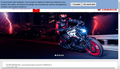 Site internet de Team Menduni Motos Yamaha