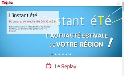 Site internet de Television Bretagne Ouest