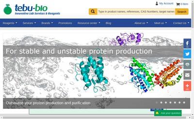 Site internet de Tebu Bio