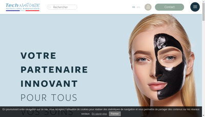 Capture d'écran du site de Technature